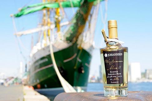 Windjammer-Rum vor der Alex II